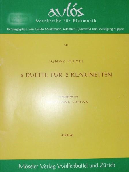 Sechs Duette für 2 Klarinetten Ignaz Pleyel