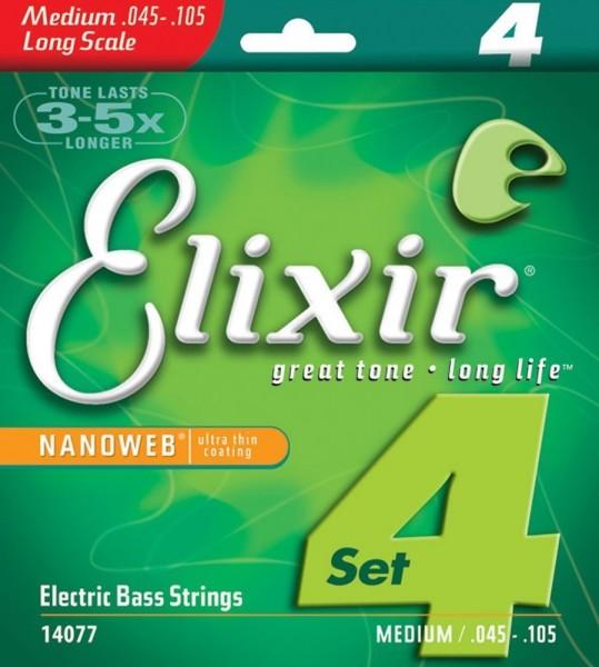 Elixir E-Bass Saiten Long Scale, 4 Saiten