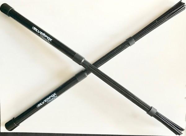 Silverfox Jazzbesen Nylon Brushes schwarz