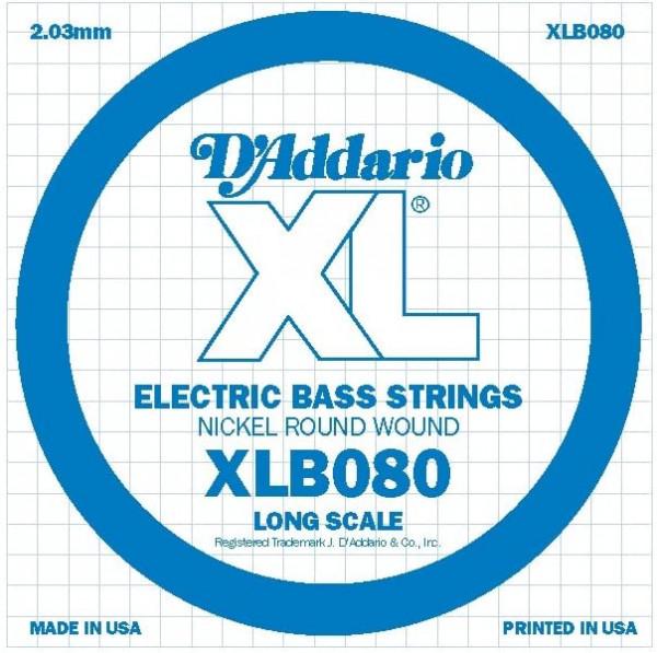 Daddario Electro Bass Einzelsaite 080