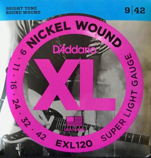 Daddario Elektro Gitarren Saiten EXL 120