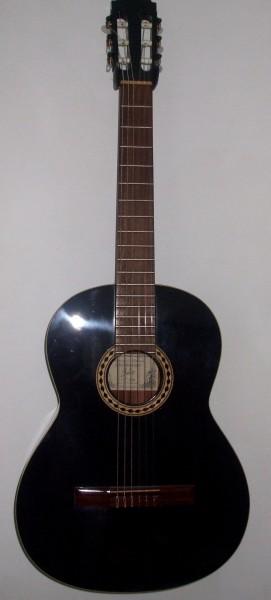 Konzertgitarre Luis Martinez 4/4 schwarz Handmade in Spain