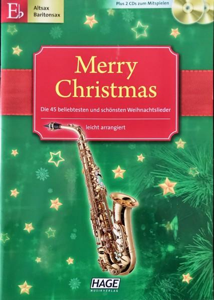 Merry Christmas für Alt und Baritonsaxophon