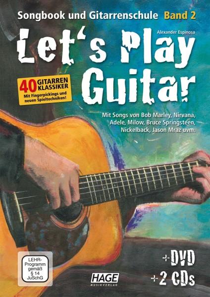 Let's Play Guitar Band 2: Songbook und Gitarrenschule + DVD + 2 CDs