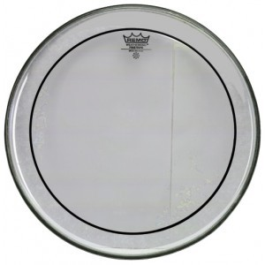 "Remo Tom Fell 16"" Pinstripe Clear"