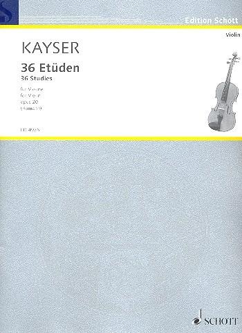 36 Etüden für Violine von Kayser