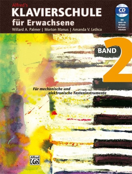 Alfreds Klavierschule für Erwachsene Band 2 mit CD