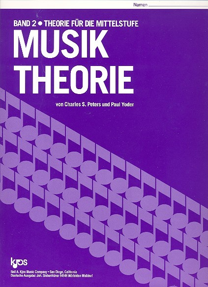 Musik Theorie Band 2 Charles Peters, Paul Yoder