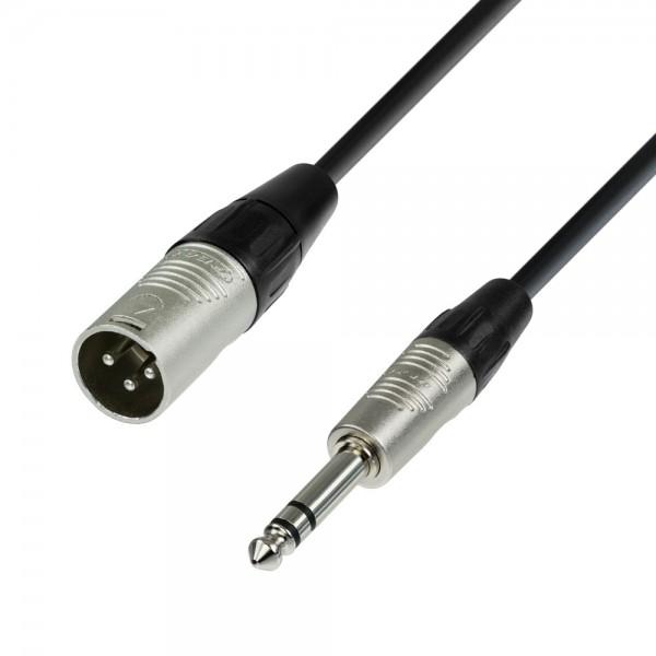 Schulz Kabel Mikrofonkabel XLR Male auf 6,3 mm Klinke Stereo 20 cm