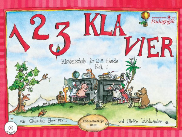 1 2 3 Klavier ohne CD Heft 1 Klavierschule