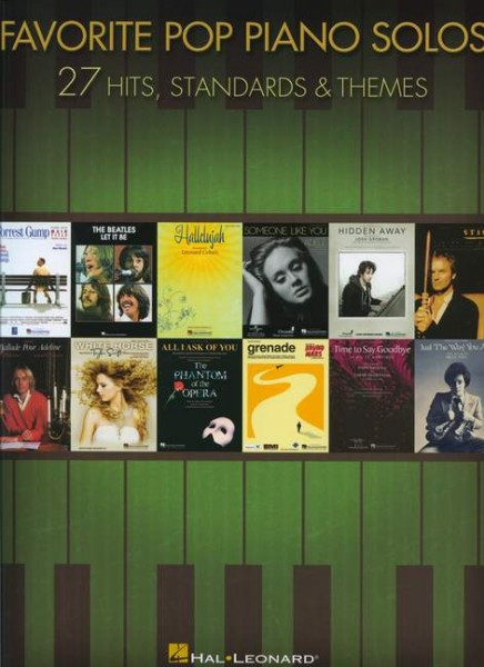 Favorite Pop Piano Solos 27 Hits und Standards