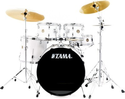 Tama Rhythm Mate Studio Drum Set White