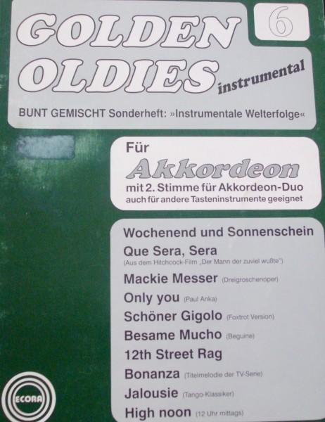 Golden Oldies instrumental für Akkordeon