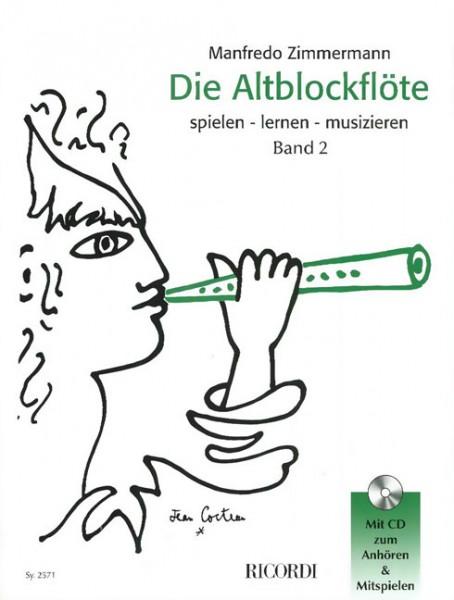 Altblockflöte Band 2 mit CD Manfredo Zimmermann