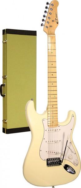 Career Stage-1 E-Gitarre vint. white/mpl
