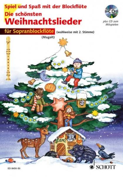 Die schönsten Weihnachtslieder für Sopranblockflöte mit CD