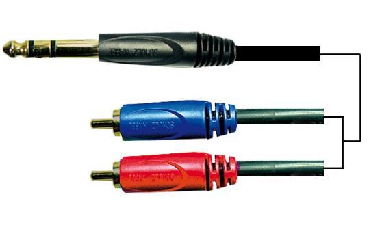 Schulz Kabel Adapterkabel 6,3 mm Stereoklinke and RCA-Stecker