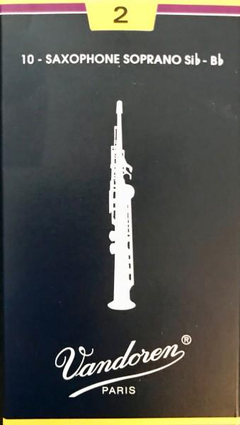 Vandoren Blatt Classic Sopran Saxophon 2,0 Einzelblatt