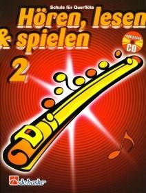 Hören, lesen & spielen, Schule für Querflöte, m. Audio-CD Band 2