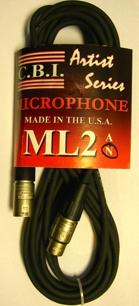 Mikrofonkabel 9 m C.B.I. Artist Serie