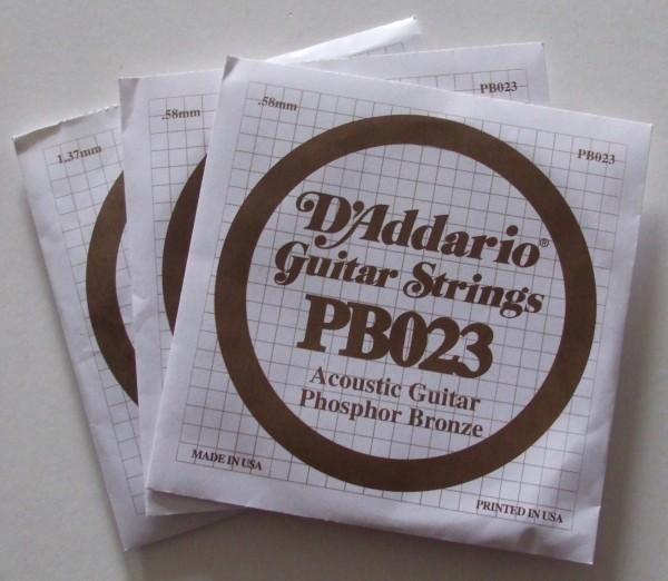 Daddario Acoustic Gitarren Einzelsaite PB034