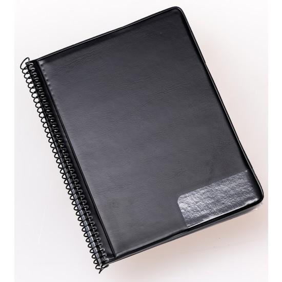 Marschnotenmappe schwarz 15x18 cm mit 20 Taschen