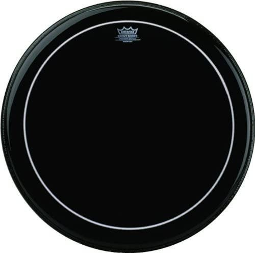 "Remo Bass Drum Fell 22"" Pinstripe Ebony"