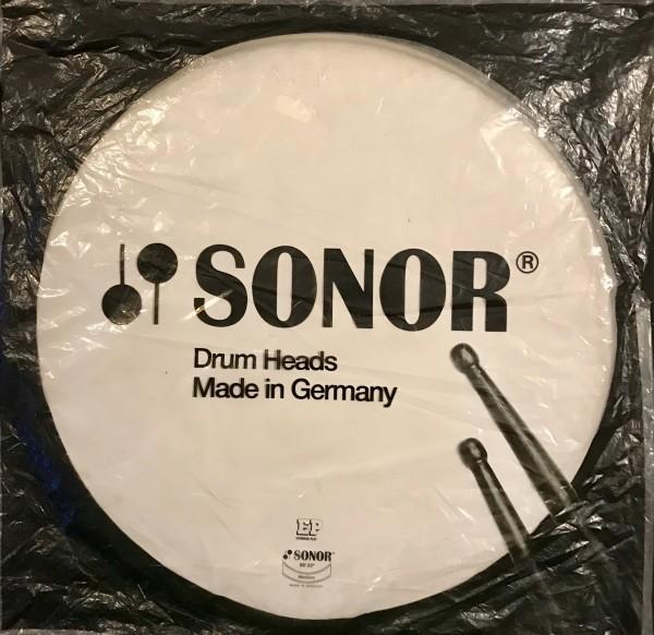 """Sonor Schlagzeugfell Bass Drum 22"""" Weiss aufgeraut"""