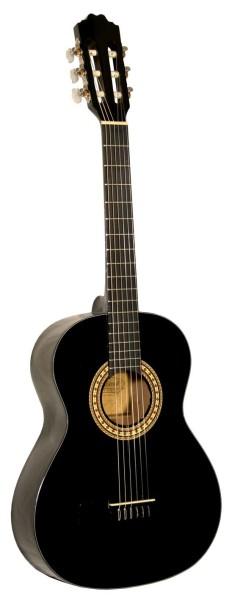 Kinder Konzertgitarre Kirkland Mod.34 Black 3/4