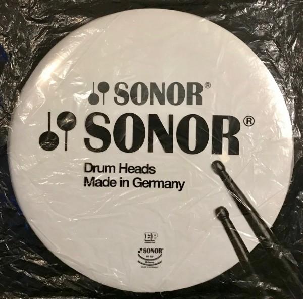 """Sonor Schlagzeugfell Bass Drum 22"""" Mit Schriftzug Sonor"""