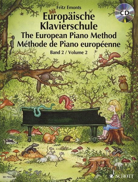 Europäische Klavierschule mit CD Band 2 Fritz Emonts