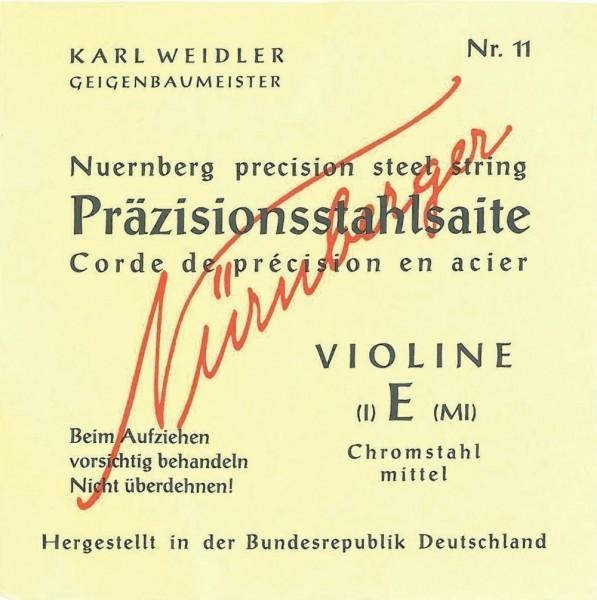 Nürnberger Präzisionsstahl Violine Saiten Satz 1/16