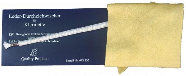 Durchziehwischer für Klarinette Leder
