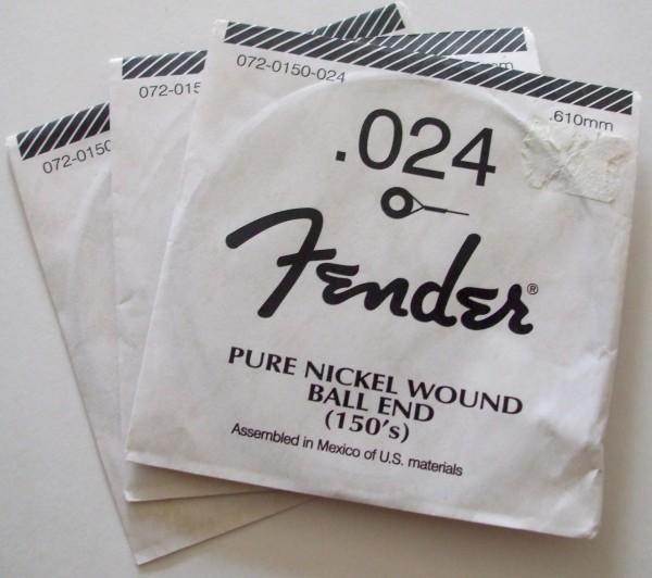 Fender Electric Gitarren Einzelsaite 024 Pure Nickel
