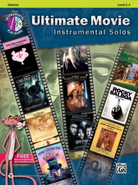 Ultimate Movie Instrumental Solos for Clarinet Book Incl.CD