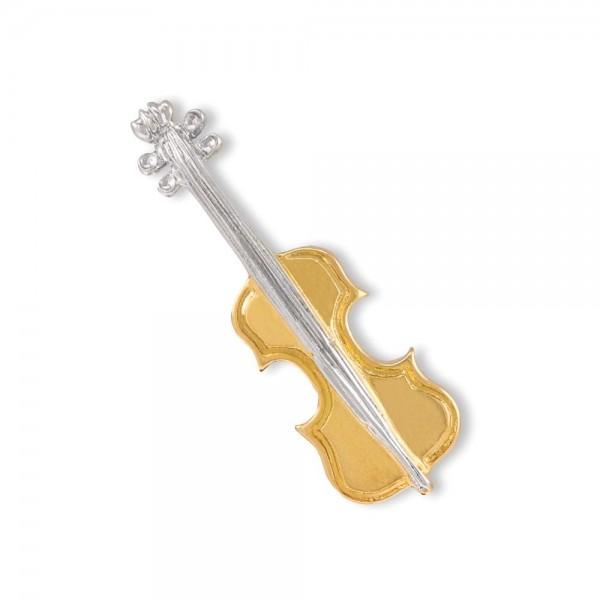 Anstecker vergoldet Geige groß