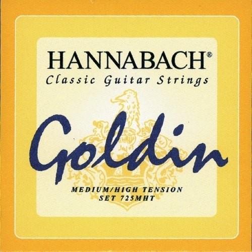 Hannabach Saiten für Classic Gitarre Goldin 3 er Discant Set E1 H G