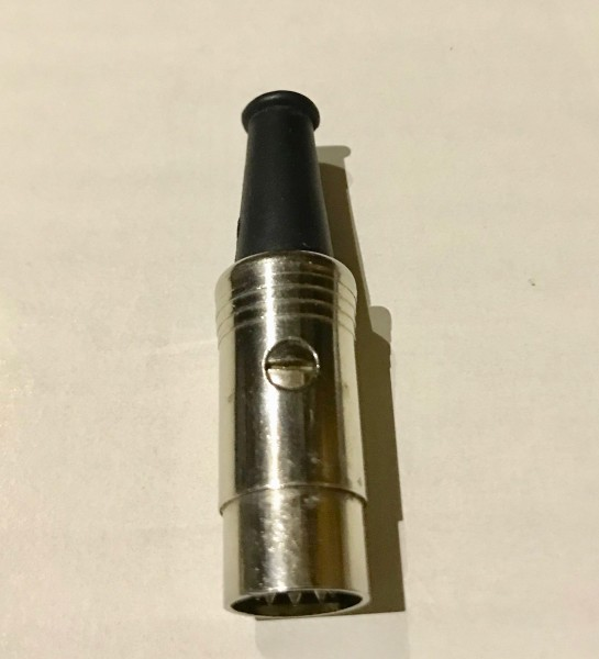 Schulz Kabel DIN Stecker 5 polig metall