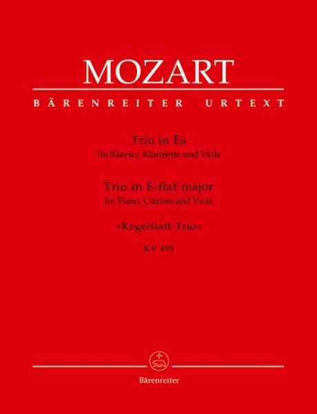 Mozart Trio in Es für Klavier, Klarinette und Viola KV498