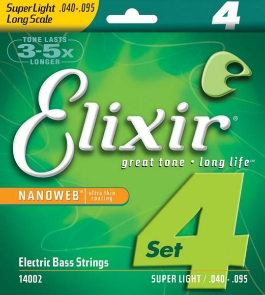 Elixir E-Bass Saiten Long Scale, 4 Saiten,