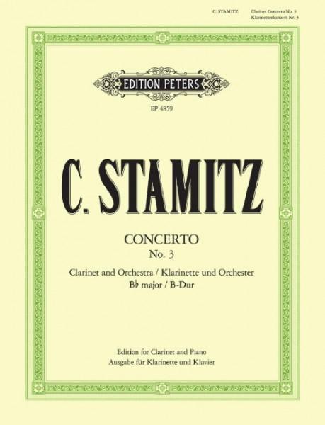 Konzert Nr. 3 B-Dur für Klarinette und Orchester Carl Stamitz