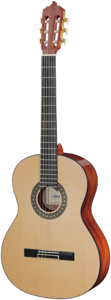 ARTESANO Konzertgitarre, Estudiante XA-4/4, Mensur 65 cm, 4/4-Größe,