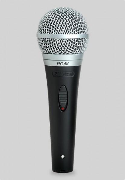 Shure PG 48 Dynamisches Gesangs- und Sprachmikrofon