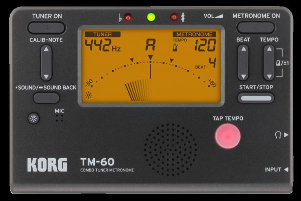 Korg TM 60 BK Stimmgerät mit Metronom