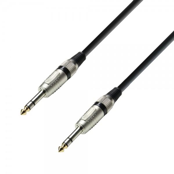 Schulz Kabel Audiokabel 6,3 mm Klinke metall stereo auf 6,3 mm Klinke metall stereo 1,00m