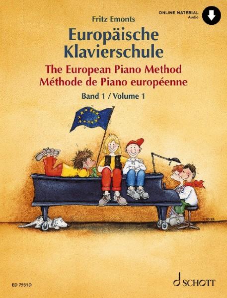 Europäische Klavierschule Band 1 mit Online Material Fritz Emonts