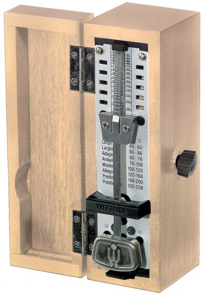 Wittner Taktell Super Mini Metronom Holzgehäuse ohne Glocke eiche-matt