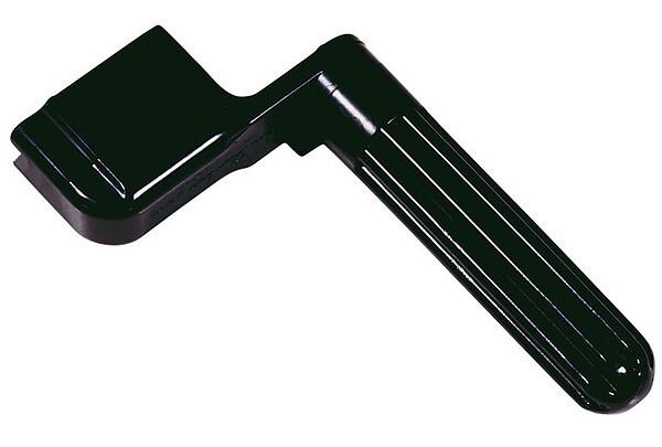 Catfish Saitenkurbel aus Kunststoff mit Kerbe zum Abziehen von Brückenstöckern.