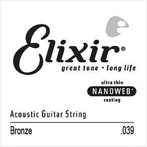 Elixir Acoustic Gitarren Einzelsaite 039