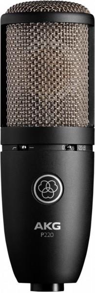 AKG P220 Großmembranmikrofon mit Nieren-Charakteristik.